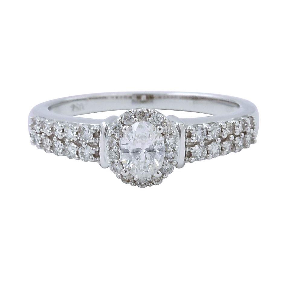 18ct White Gold, 0.67ct Diamond Engagement Ring