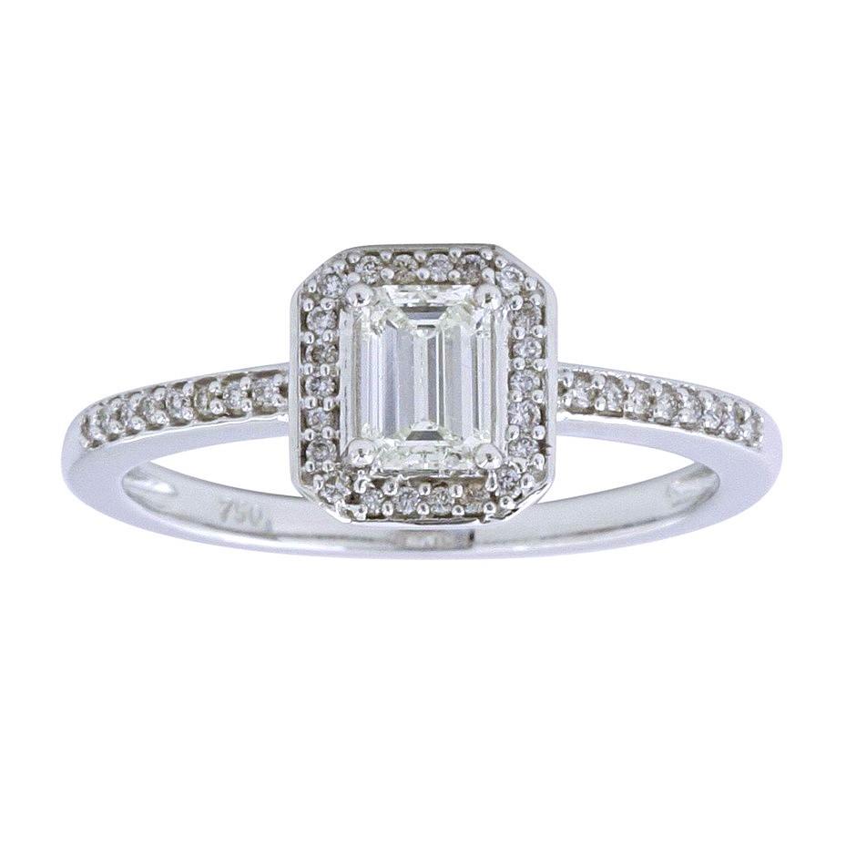18ct White Gold, 0.56ct Diamond Engagement Ring