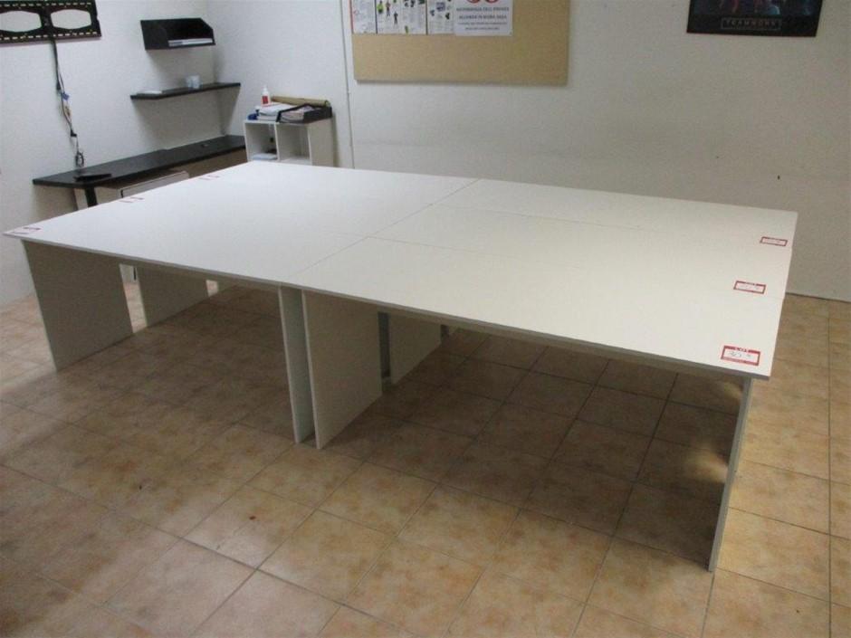 Qty 6 x Timber Laminated Desks