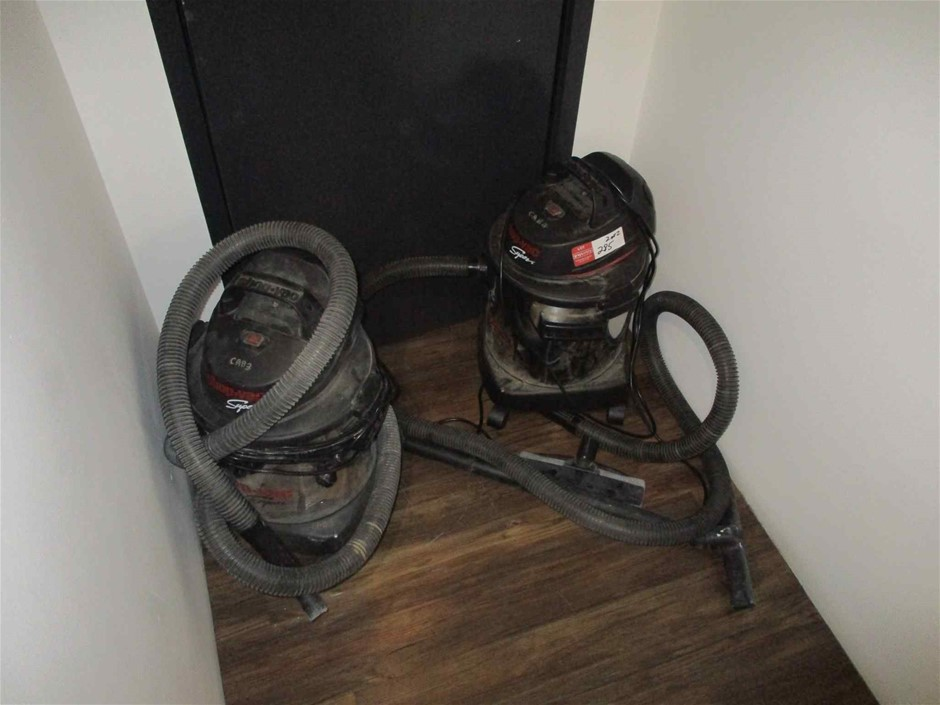 Quantity 2 Shopvac Super Vacuum Cleaners