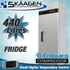 Unused Single Door S/Steel Fridge 400L - YBC01-SS