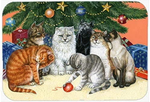 CAROLINE`S TREASURES Cats Under the Christmas Tree, Kitchen/ Bath Mat, Size