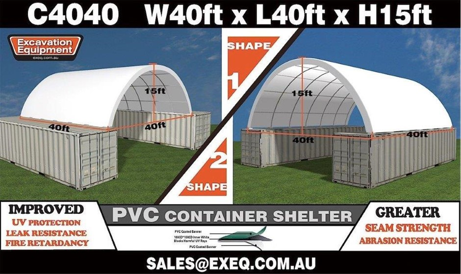2020 Unused Heavy Duty 40ft Container Shelter,