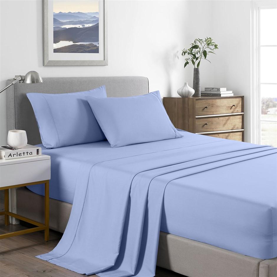 Royal Comfort Bamboo Cooling 2000TC Sheet Set - Double-Light Blue