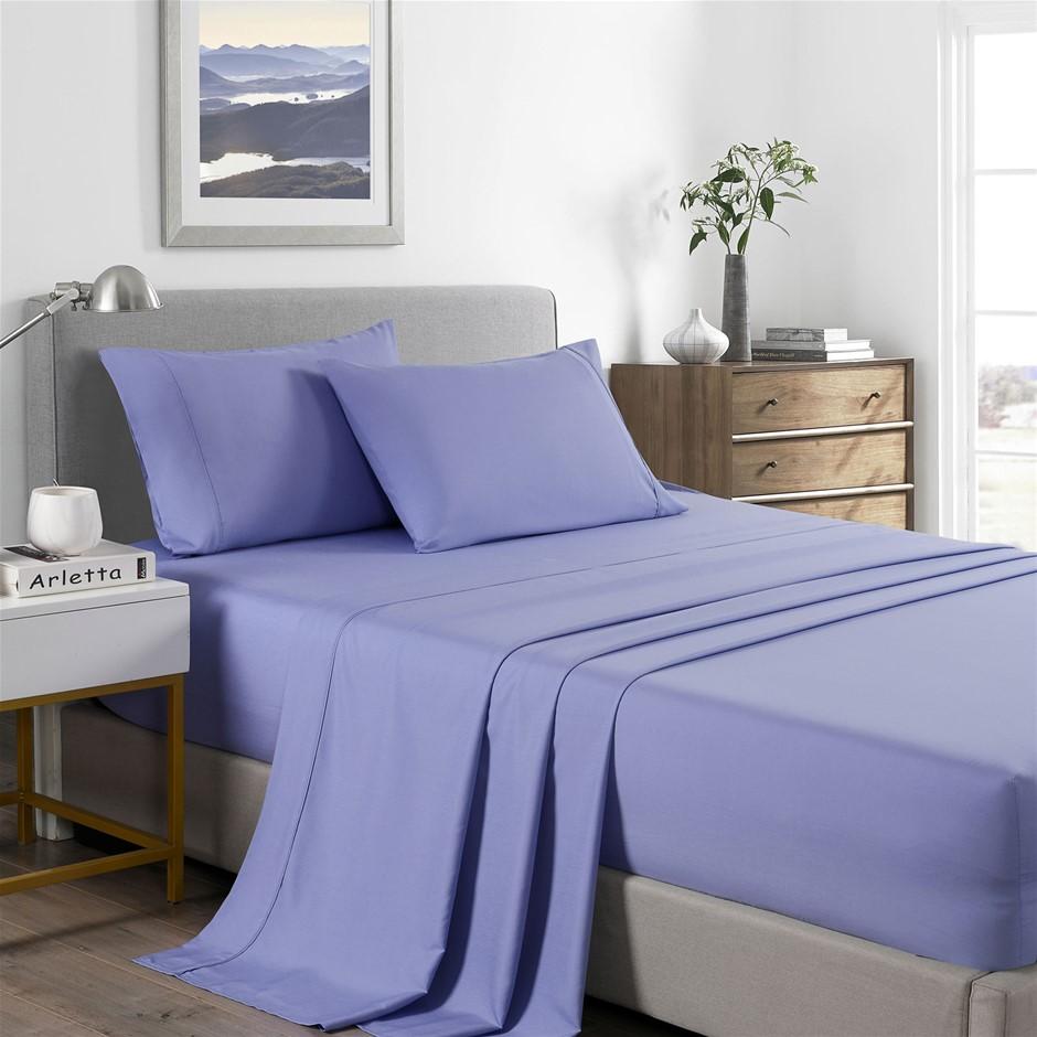 Royal Comfort Bamboo Cooling 2000TC Sheet Set - Double-Mid Blue