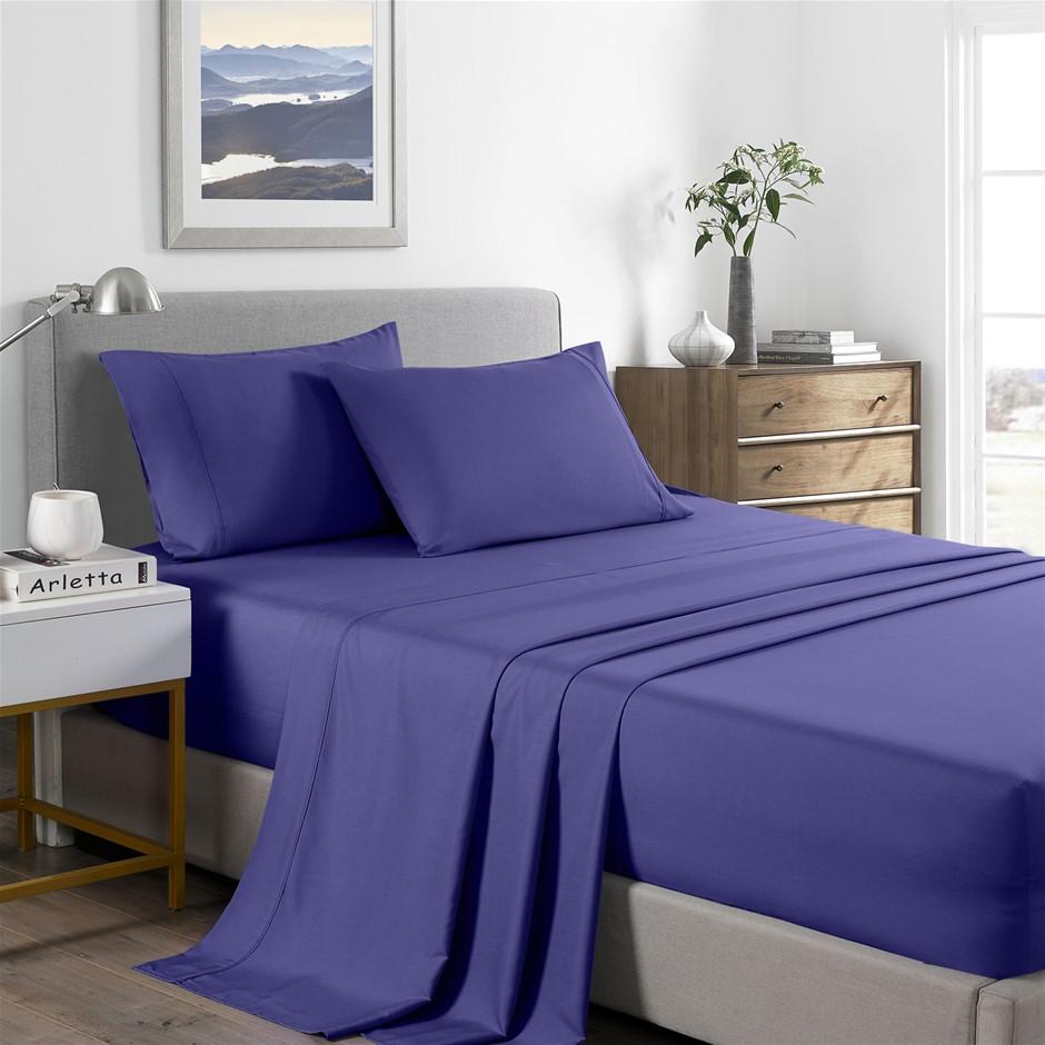 Royal Comfort Bamboo Cooling 2000TC Sheet Set - Double-Royal Blue