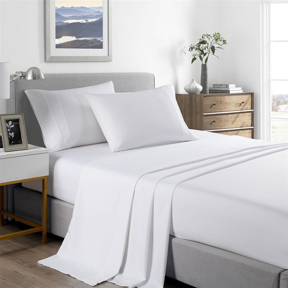 Royal Comfort Bamboo Cooling 2000TC Sheet Set - Single-White