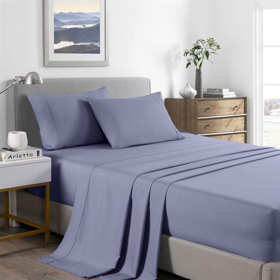 Royal Comfort Bamboo Cooling 2000TC Sheet Set - Single-Lilac Grey