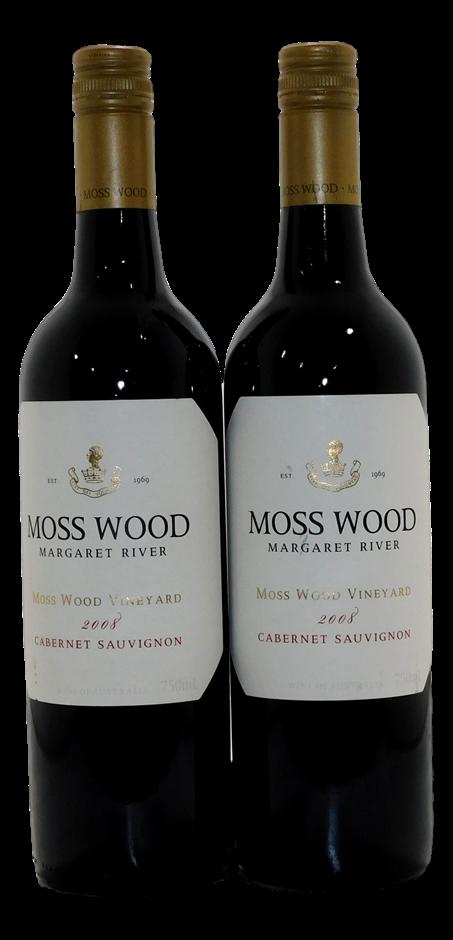 Moss Wood Cabernet Sauvignon 2008 (2x 750mL), Margaret River, WA