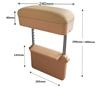 Portable car handrail lift storage box(Beige)