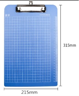 Plastic file clip board x 10 pieces