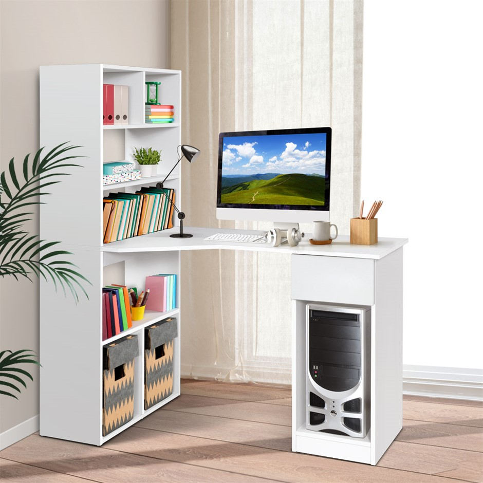 Artiss Office Computer Desk Study Table Home Workstation Corner Shelf