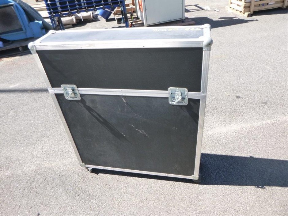 Black Storage Case with Display Shelving