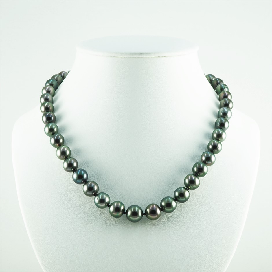 14ct White Gold, 58.35gm Pearl Necklace
