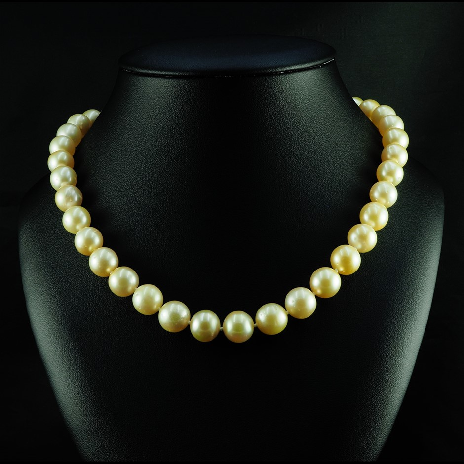 14ct Yellow Gold Pearl Necklace