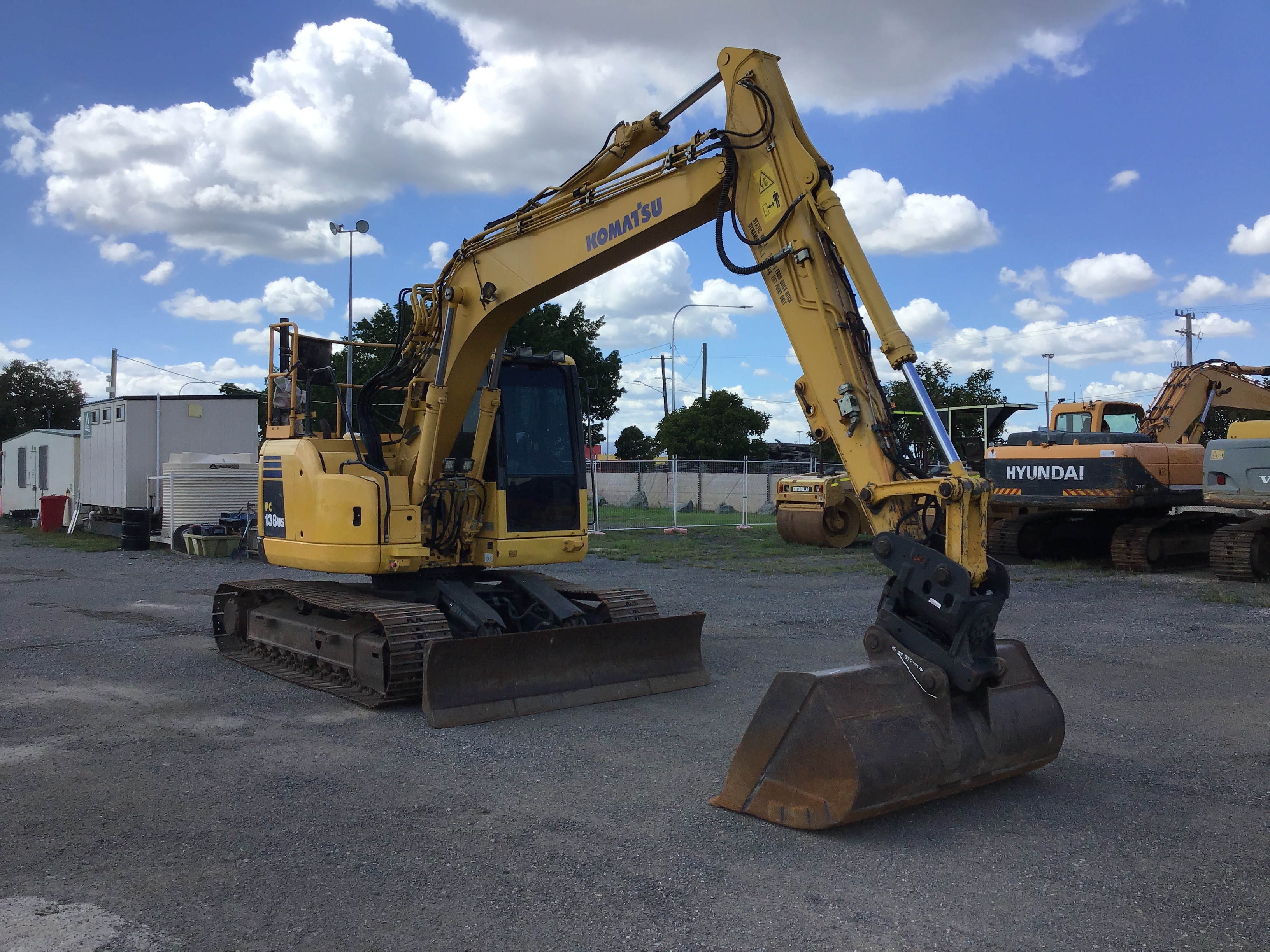 2012 Komatsu PC138US-8 Hydraulic Excavator with Trimble GPS Wiring