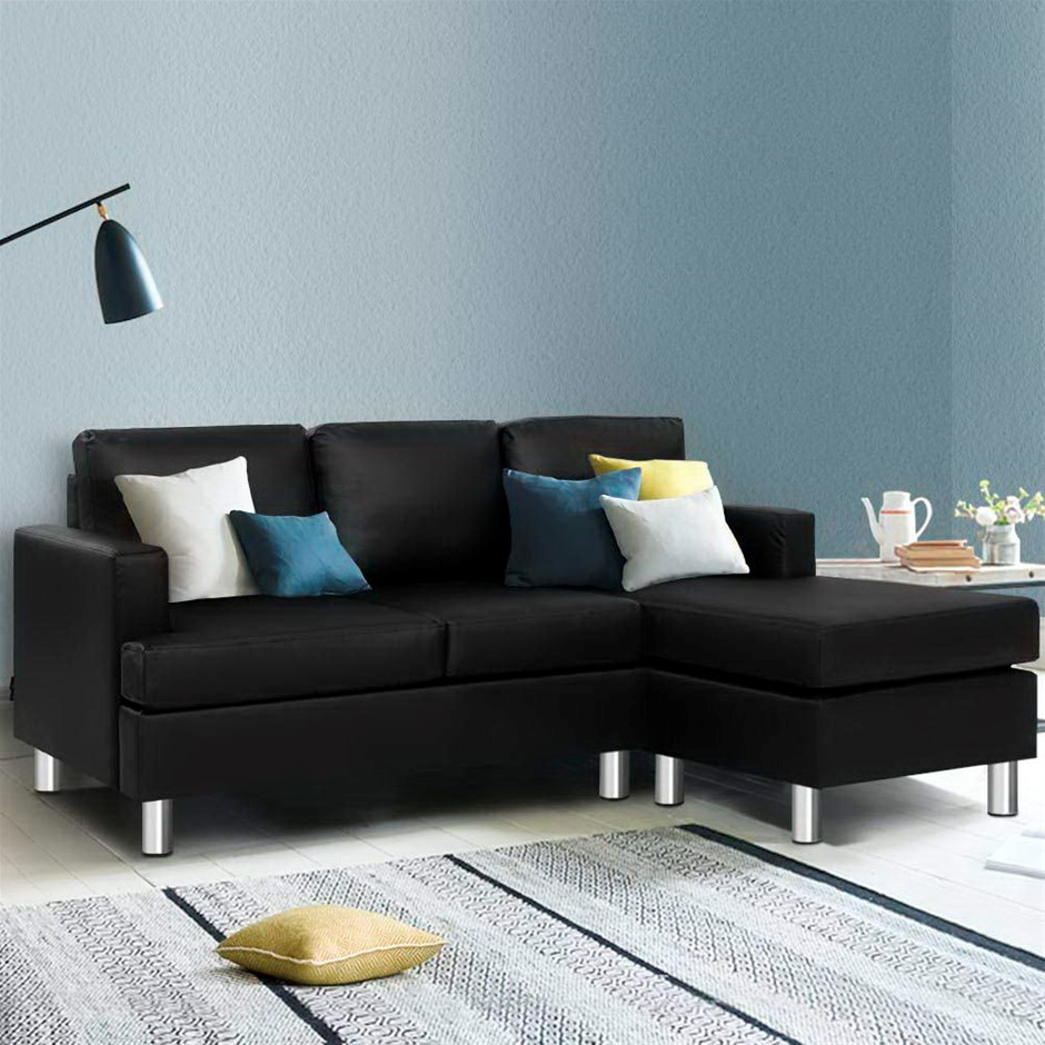 Artiss Sofa Lounge Set Couch Futon Corner Chaise Leather 3 Seater Suite