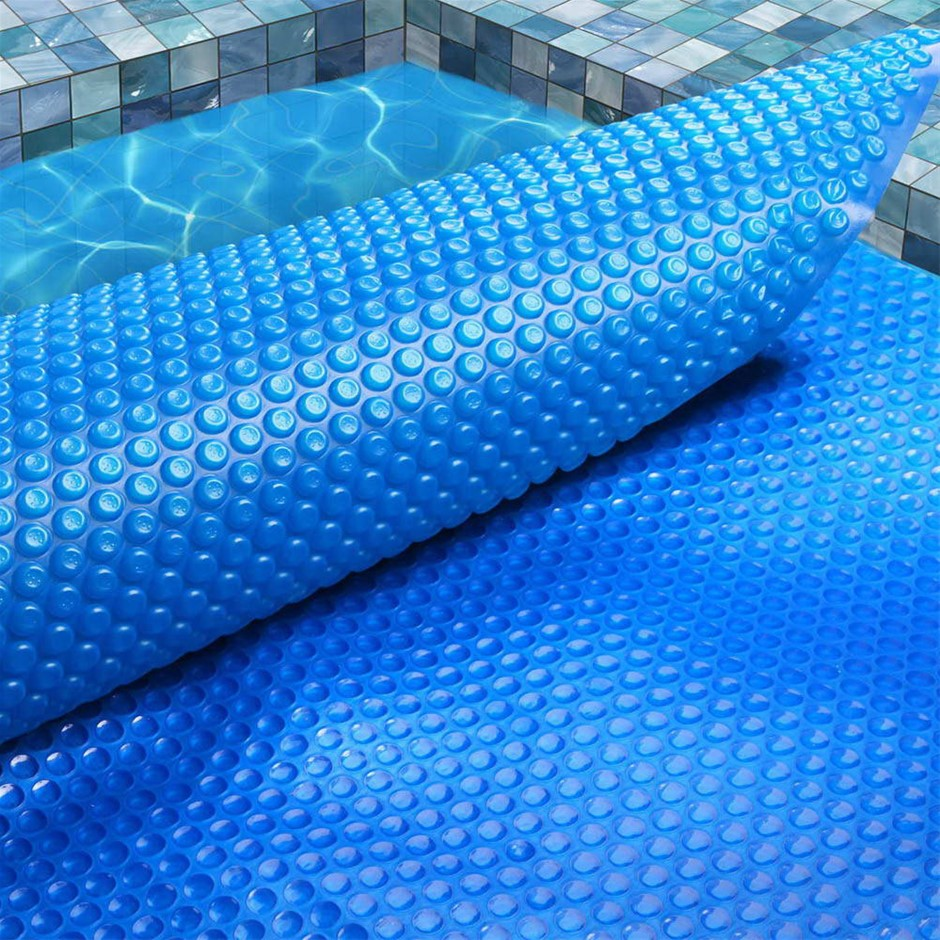 Aquabuddy 8M X 4.2M Solar Swimming Pool Cover 400 Micron Outdoor Bubble