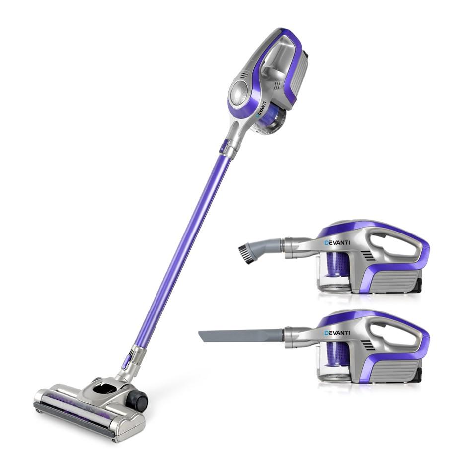 Devanti Cordless Stick Vacuum Cleaner - Purple & Grey