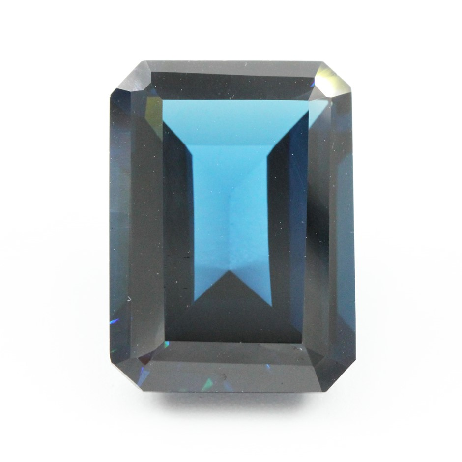One Loose Blue Topaz, 19.38ct in Total