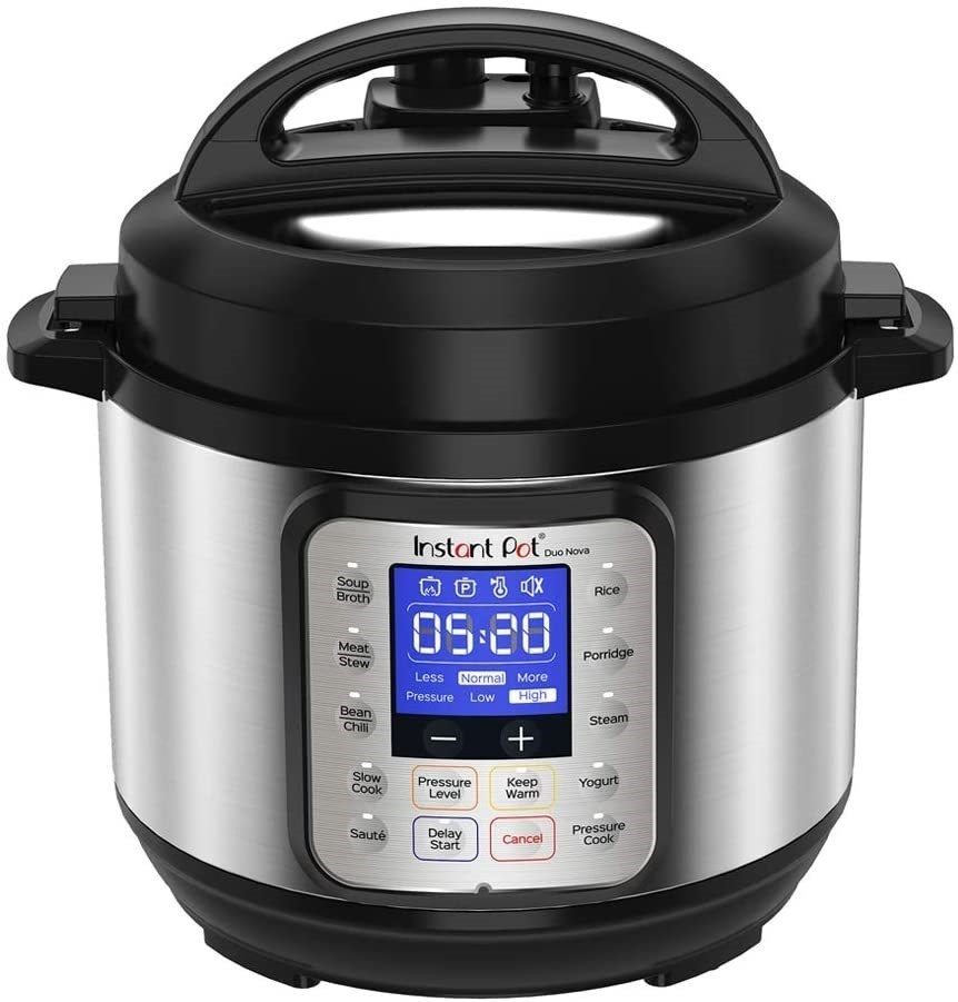INSTANT POT Duo Nova Electric Multi Use Pressure Cooker, Stainless Steel, 3