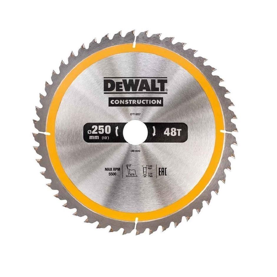 DeWALT Construction Saw Blade 250mm x 30mm x 48 Teeth (SN:DT1957-QZ) (27715