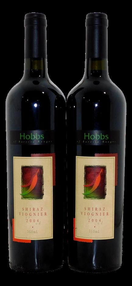 Hobbs Shiraz Viognier 2004 (2x 750mL), SA, Cork.