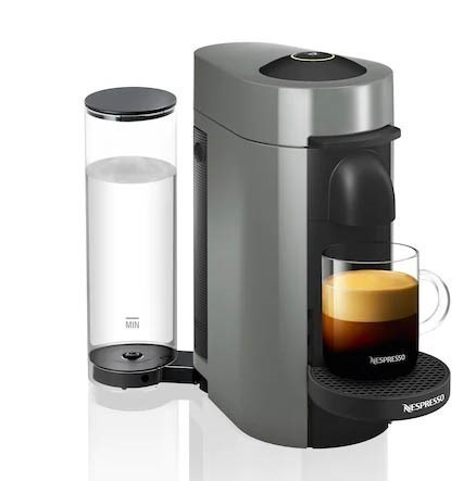 NESPRESSO Vertuo Plus Coffee & Espresso Machine, Grey. (SN:CC63455) (277022