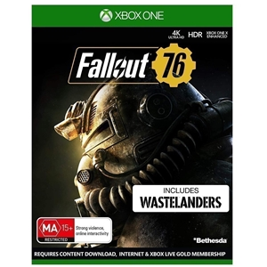 Fallout 76 Video Game on XBOX ONE. (SN:C