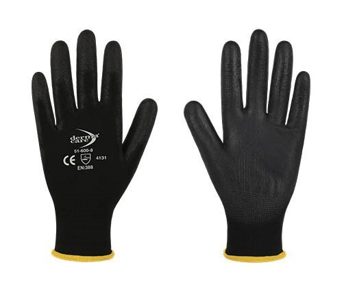 12 Pairs x DERMA CARE Multi-Purpose Light Weight Gloves Size M, Machine Kni