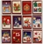 100 Christmas Cards: 12 different designs with envelope (11cm x 7cm)