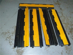 Qty 4 assorted Two Channel Floor Cable T