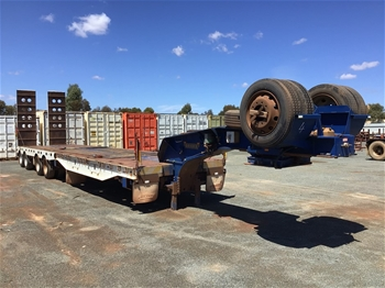 2013 Drake 4x4 OD Widening Low Loader Trailer