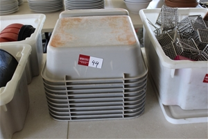 """Assortment of """"Dirty Dish"""" Busing Tubs"""
