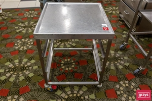 Stainless steel Trolley with two place T