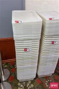 Qty 26 x White Food grade Tubs