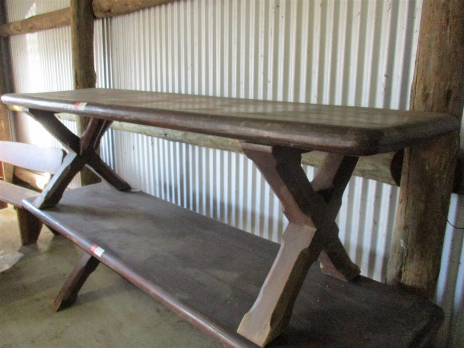 Qty 1x Old Timber Table