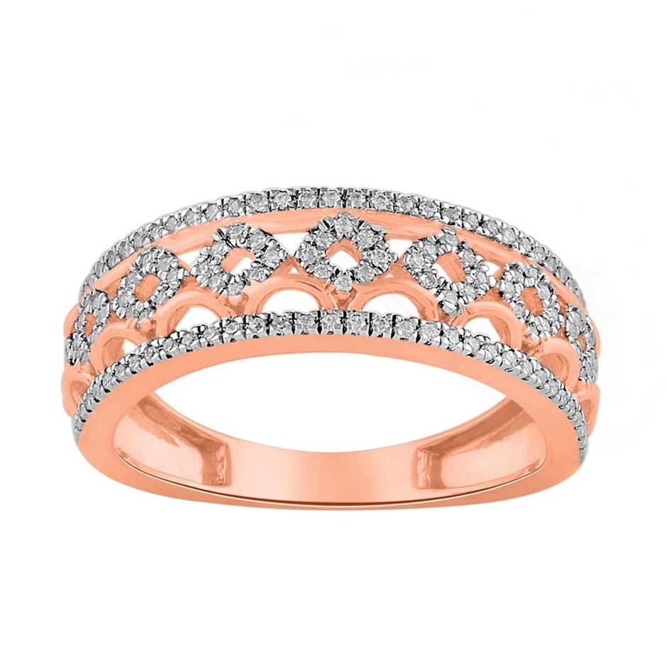 9ct Rose Gold, 0.26ct Diamond Ring