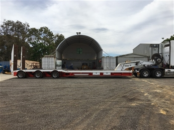 2016 Drake 3x8 Swing Wing Low Loader Float with Hydraulic Goose Neck
