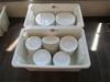 Qty 2 x Tubs Plates & Bowls