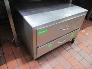 2 Drawer Stainless Steel Cabinet