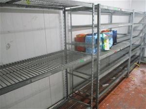 Quantity of 3x Galvanized Steel Shelf Un