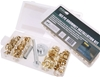 103pc Grommet Installation Kit, Including; 3 x Punches, Brass Coated Gromme