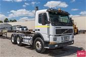 Volvo Prime Mover, Steelbro Triaxle Trailer, Omega Forklift
