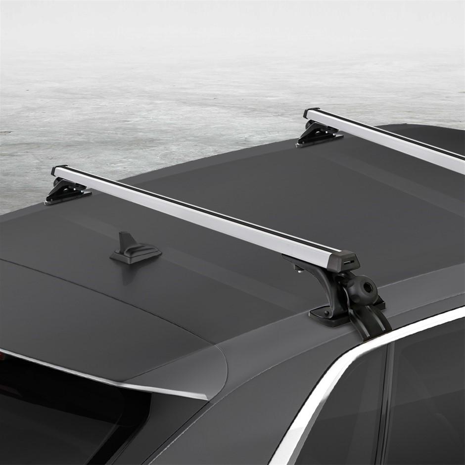 Universal Car Roof Rack Cross Bars Aluminium Adjustable Brackets 90kg