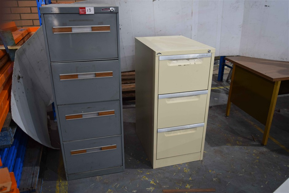 Lot of 2 Metal Filing Cabinets