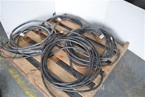 Lot of 4 Assorted Size 3 Phase Leads