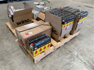 Pallet of Butane Gas Cartridges and Sili