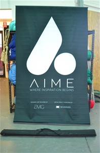 4 x Double sided pull up banner