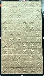 Pressed Metal Gold Wall Panels